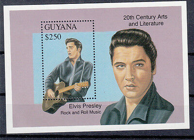 Guyana 1993 Elvis Presley. Rock and Roll Music. S/S. MNH. VF.