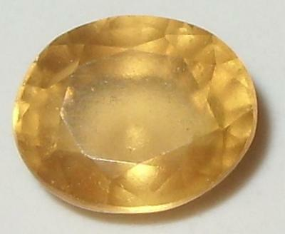 2.91ct RARE GOLDEN ORISSA HESSONITE GARNET OVAL CUT