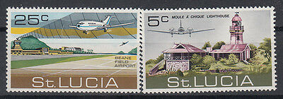 St Lucia 1971 Beane Field Airport. Set. MNH. VF.