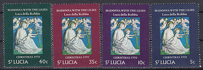 "St. Lucia 1970 Christmas. ""Madonna with the Lilies"". Set. MNH. VF."