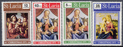 St. Lucia 1971 Christmas Paintings. Set. MNH. VF.