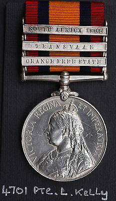 Qsa Medal ~ Royal Inniskilling Fusiliers ~ 4701 Pte Lawrence Kelly ~ Dublin