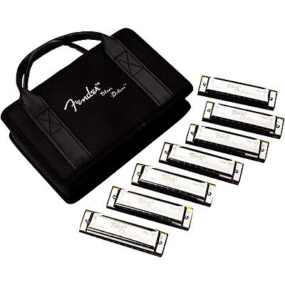 Fender Blues Deluxe Harmonica: Available in A Bb C D E F G or as a 7 Key Set