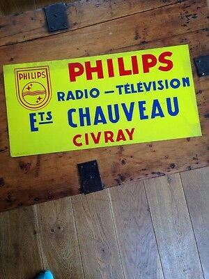 Original Vintage French Enamel Sign