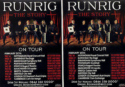 2 X Runrig 2016 The Story Tour Flyers