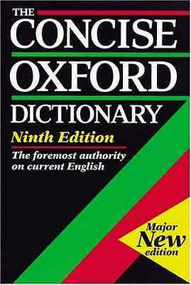 Very Good - The Concise Oxford Dictionary -  - 0198613199