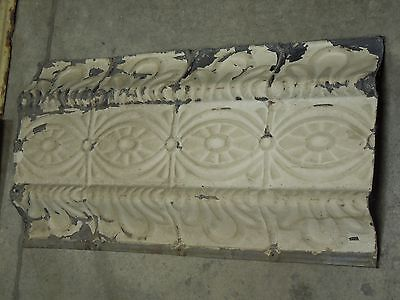"Old Antique ( Metal )  tin ceiling tile tiles 24""x 12"" trim"