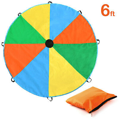 6Feet Play Parachute Kids Children Colorful Outdoor Game Sport Toy Exercise
