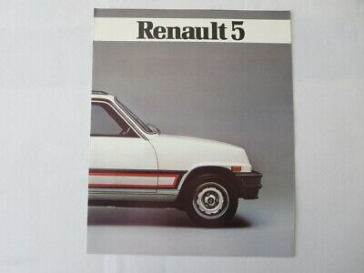 Vintage 1980s Renault 5 Sales Brochure Catalog Advertising FRENCH Text