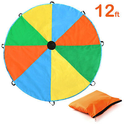 12Feet Play Parachute Kids Children Colorful Outdoor Game Sport Toy Exercise