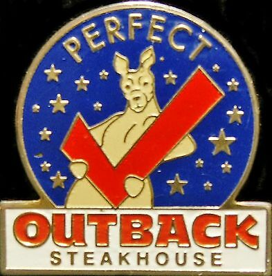 A4587b Outback Steakhouse Perfect Check - DarK Blue Background