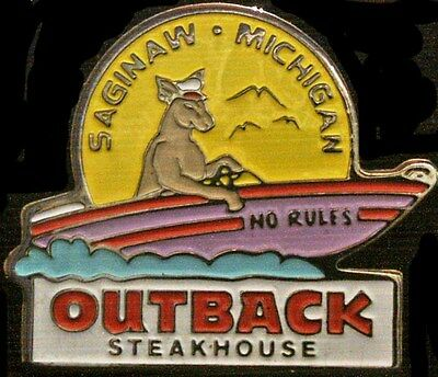 A2621 Outback Steakhouse hat lapel pins Saginaw Michigan