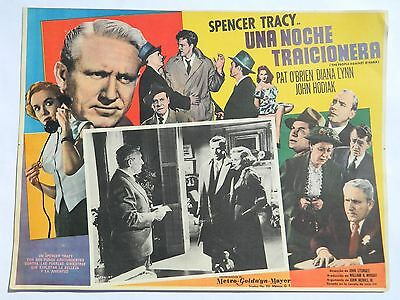 Vintage Rare The People Against O'hara Mexican Lobby Card Spencer Tracy