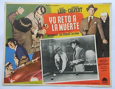 Vintage Rare Appointment With Danger Mexican Lobby Card Alan Ladd Phyllis # 8