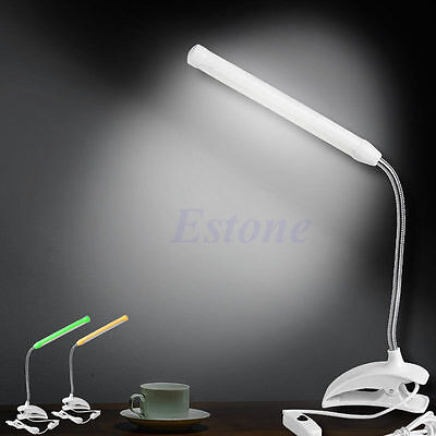 1pc USB 13 LED Light Clip-on Clamp Bed Table Study Desk Reading Lamp Flexible