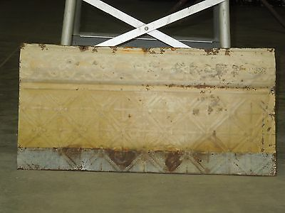 "Old Antique ( Metal )  tin ceiling tile  24""x 12"""