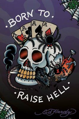 Poster Tattoo Art by ED HARDY -Born To Raise Hell 57352