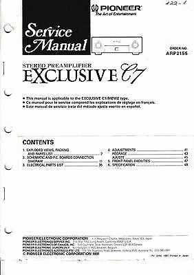 Service manual manual for Pioneer Exclusive C7