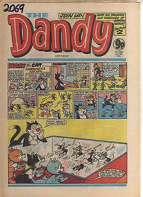 THE DANDY No 2069 JULY 18th 1981 GOOD TO FAIR CONDITION