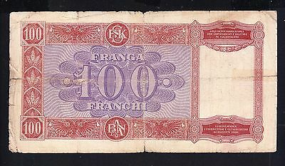1945,Albania Paper Money, 100 FR. Italy Occupation.Overprint R2