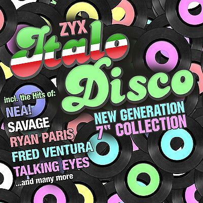 CD ZYX Italo Disco New Generation 7 Inch Collection von Various Artists  2CDs