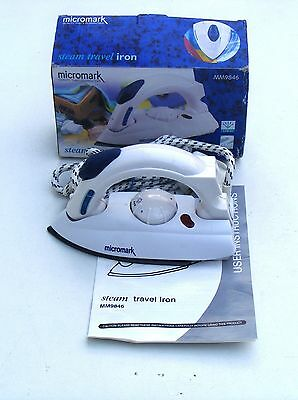 2001 120-230v Travel Steam Iron Micromark MM9846, boxed with instructions. 800w