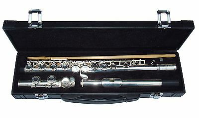 Ferris 16 Hole Silver Plated Concert Flute With Case