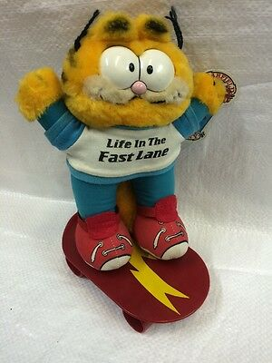 Garfield Soft Toy On A Skateboard