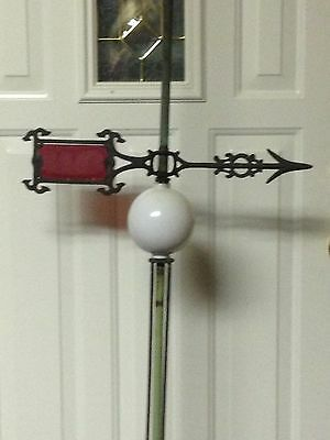 antique weathervane lightning rod with ball