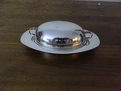 Silverplate Butter Dish with Glass Plate Forbes Silver?