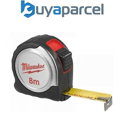 Milwaukee 4932451640 8 Meter Compact Tape Measure Silver C8/25 8m Metric