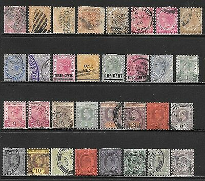 STRAITS SETTLEMENTS Interesting Early Mint and Used Issues Selection (Nov 0129)