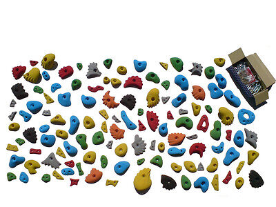 Cellar set - Wall in a box - 50 Rock Climbing Holds, all Fixings