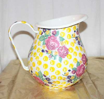 Mackenzie Childs Large Enamelware Buttercup Pitcher