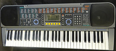 Casio Electronic Keyboard CTK-601 Boxed With The Stand