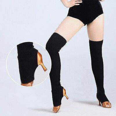 Rhythmic Gymnastics Black Latin Dance Casual Leg Warmers