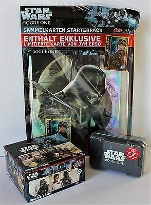 Topps Star Wars ROGUE ONE - Starter + Display + Collector Box inkl. limitierte