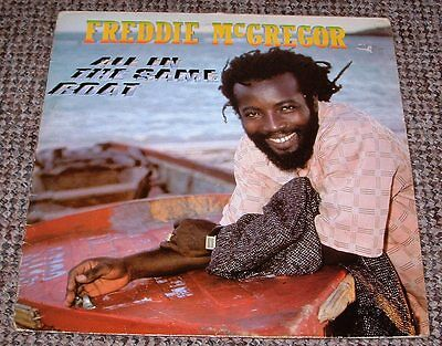 "FREDDIE McGREGOR ALL IN THE SAME BOAT 12"" LP UK REAL AUTHENTIC SOUND LABEL 1986"