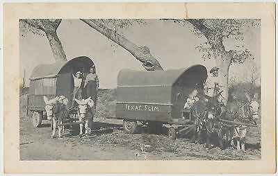 Texas Slim Covered Wagon- To Matches the Clown from Slim Pickens (Signed) 1961