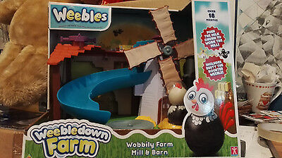 WEEBLES WOBBILY FARM MILL AND BARN PLAYSET - some outer packaging damage