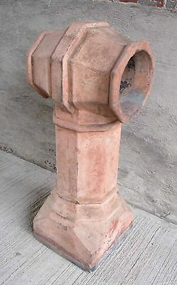 """Antique Chimney Pot - Fired Clay - """"T"""" Top, 36"""" Tall (#18)"""