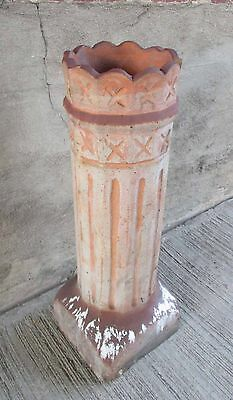 "Antique Chimney Pot - Scalloped Top w/Fluted Sides, 35"" Tall (#11)"