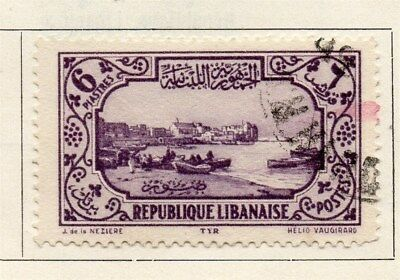 Great Lebanon 1930 Early Issue Fine Used 6p. 109524