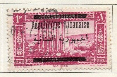 Great Lebanon 1928 Early Issue Fine Used 1p. Optd 109526