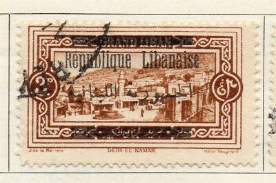 Great Lebanon 1928 Early Issue Fine Used 2p. Optd 109527