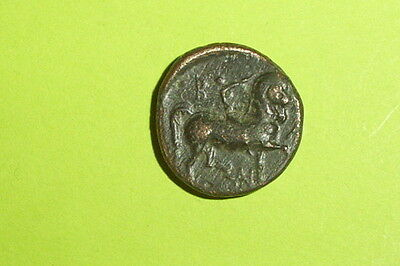 Ancient GREEK COIN horse rider CASSANDER MACEDONIA 316 BC-297 BC Heracles old VF