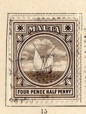 Malta 1899 Early Issue Fine Used 4.5d. 109655