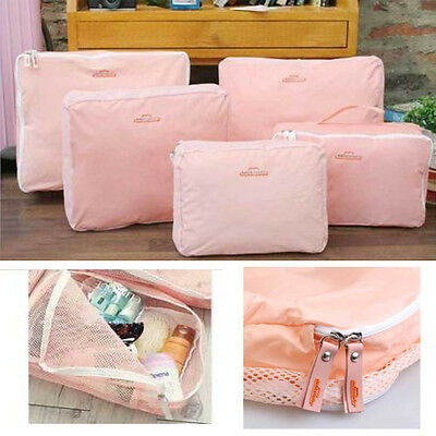 5 X Travel Luggage Zipped Storage Bag Clothes Tidy Organizer Case Pouch Suitcase
