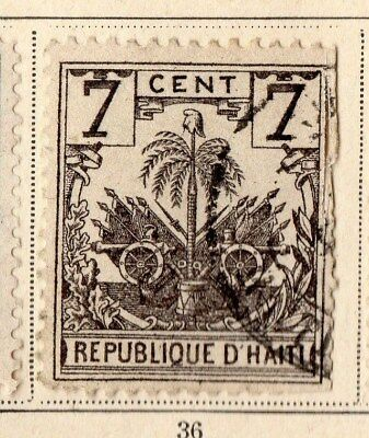 Haiti 1896-97 Early Issue Fine Used 7c. 109796