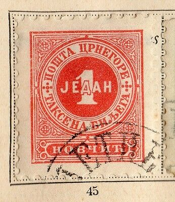 Montenegro 1894 Early Issue Fine Used 1n. 109884